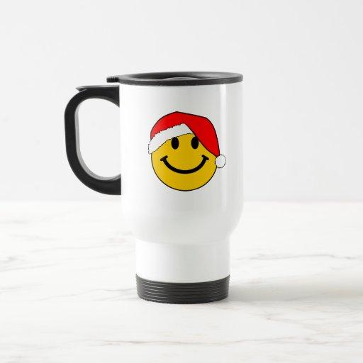 Christmas Santa Smiley Face Mug