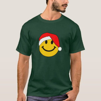Christmas Santa Smiley Face T-Shirt