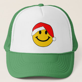 Christmas Santa Smiley Face Trucker Hat