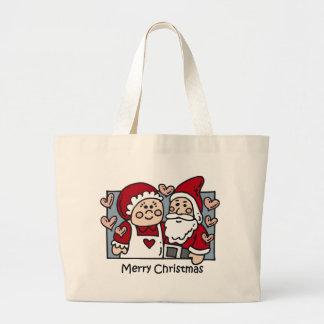 Christmas Santa totebag Large Tote Bag