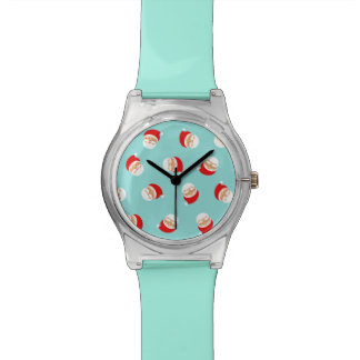 Christmas Santa Turquoise Trendy Lovely Simple Watch