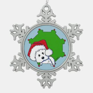 Christmas Santa Westie Ornament