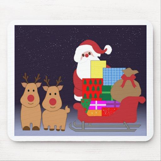 Christmas Santa Winter Peace Love Holiday Destiny Mousepad