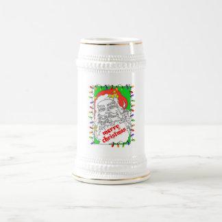 Christmas Santa with Lights Coffee Mug