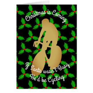 Christmas Santa Would be Cycling Card