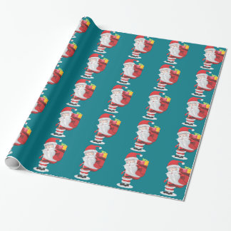 christmas santa wrapping paper
