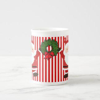 Christmas Santas Bone China Mug