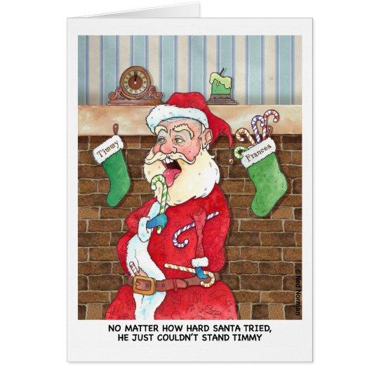 Christmas: Santas Internal Struggles Card