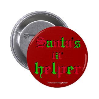"""Christmas """"santa's lil helper"""" - Button Pins"""