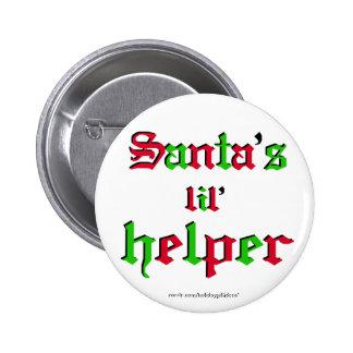"Christmas ""santa's lil helper""  - Button"