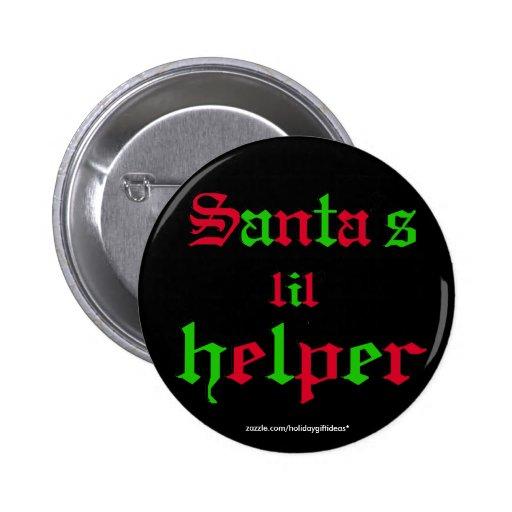 "Christmas ""santa's lil helper"" - Button Buttons"