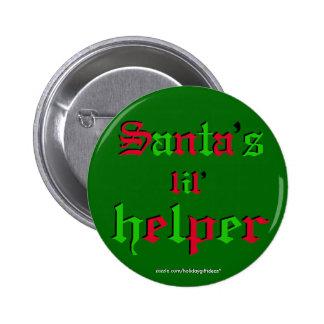 "Christmas ""santa's lil helper"" - Button Pinback Button"