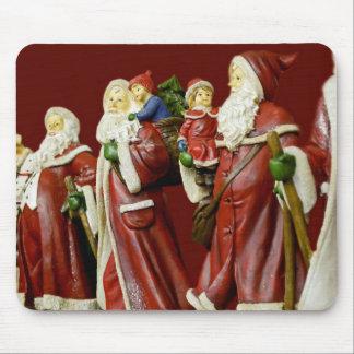 Christmas Santas Saint Nick Holiday Gifts Mouse Pad