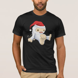 Christmas Sasquatch Doll With a Red Santa Hat T-Shirt