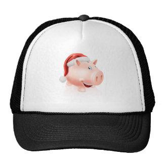 Christmas savings piggy bank hats