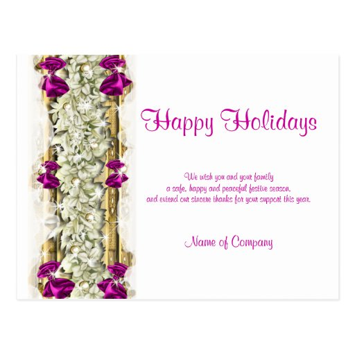Christmas sayings and Xmas Corporate thanks Post Card