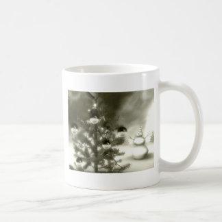 christmas scene winter night basic white mug