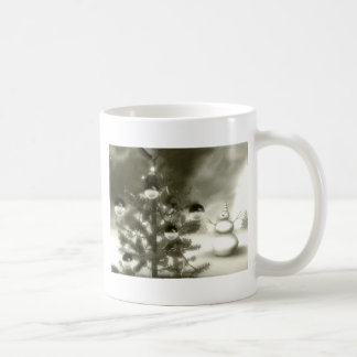 christmas scene winter night mug