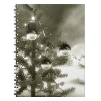 christmas scene winter night spiral notebooks