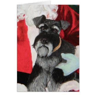 Christmas Schnauzer card