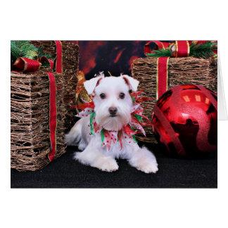 Christmas - Schnauzer - Emma Greeting Card