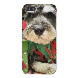 Christmas - Schnauzer - Joey iPhone 5 Cases