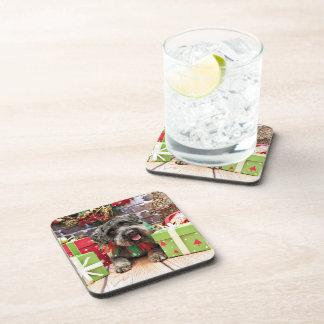 Christmas - Schnoodle - Dexter Beverage Coasters