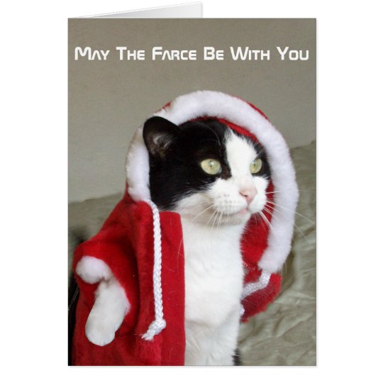Christmas Sci-Fi Parody Cat Funny Card Humour