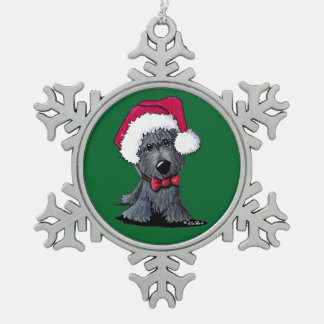 Christmas Scottie Ornament