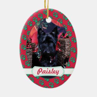 Christmas - Scottie - Paisley Ornament
