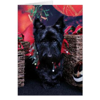 Christmas - Scottie - Paisley Greeting Card