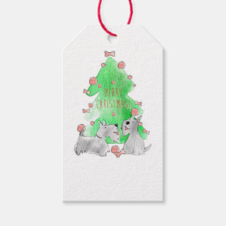 Christmas Scotties Gift Tags
