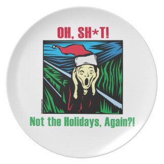 Christmas Scream Party Plate