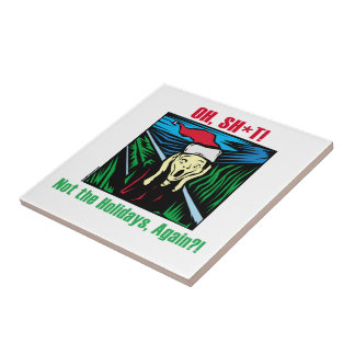 Christmas Scream Small Square Tile