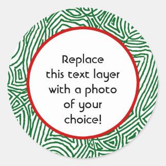 Christmas Scribbleprints Border Stickers - Green.