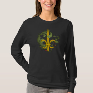 Christmas Scroll Fleur de lis T-Shirt