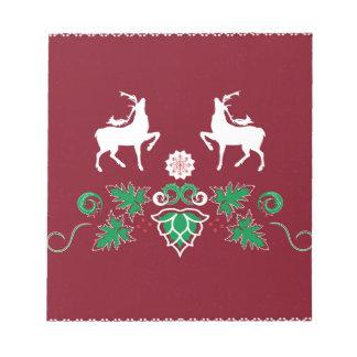Christmas seamless pattern notepad
