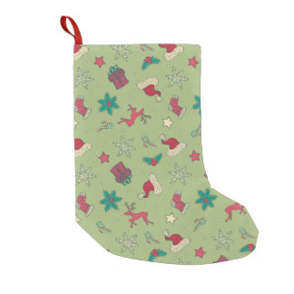 Christmas Seamless Pattern Small Christmas Stocking