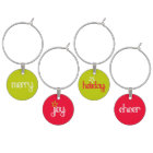 Christmas sentiments red green charms