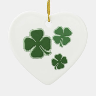 Christmas Shamrocks Christmas Ornament