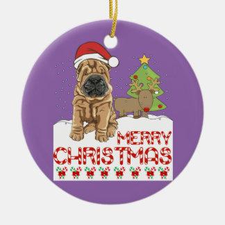 Christmas Shar Pei Christmas Ornament