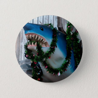 Christmas Shark button