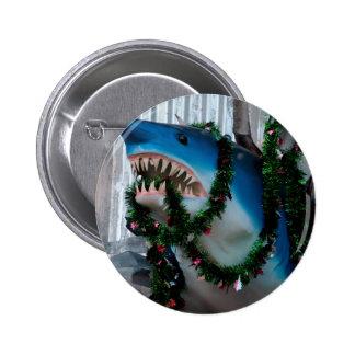 Christmas Shark button