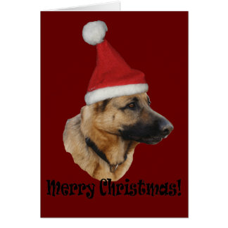"Christmas ""shepherd dog "" card"