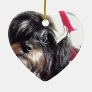 Christmas Shih Poo Christmas Ornament