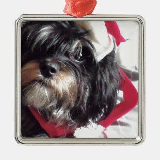 Christmas Shih Poo Christmas Ornament