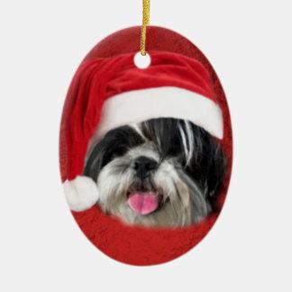 Christmas Shih Tzu Christmas Ornament