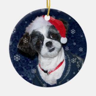 Christmas Shih Tzu Dog Christmas Ornament