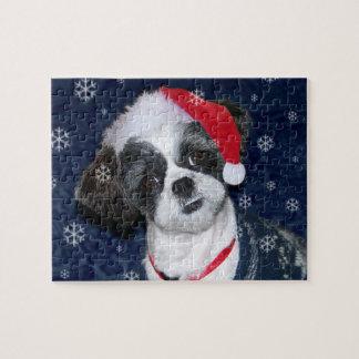 Christmas Shih Tzu Dog Jigsaw Puzzle