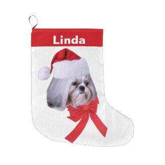 Christmas, Shih Tzu Dog, Santa Hat, Customizable